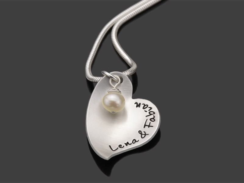 CUP OF LOVE 925 Silber Kette, Schmuck mit Wunschname