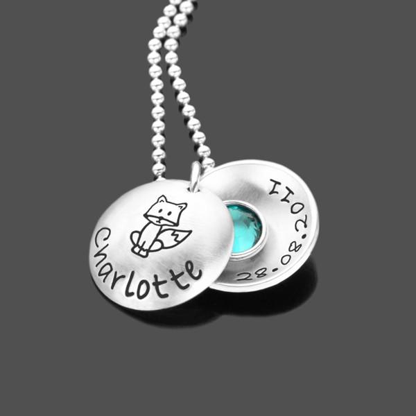 Kinderkette Silber mit Gravur