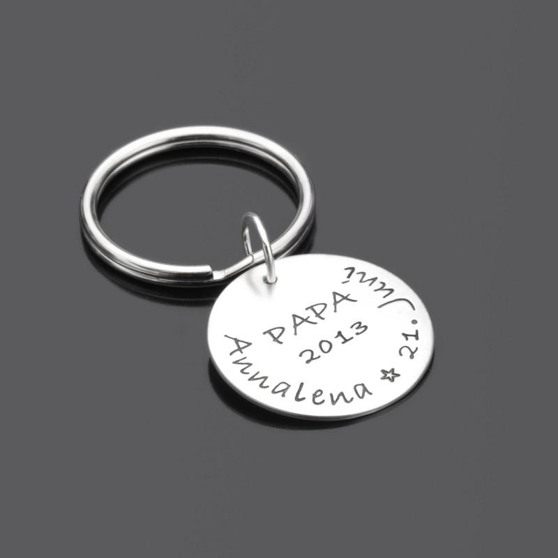 Schlüsselanhänger mit Gravur für Vater