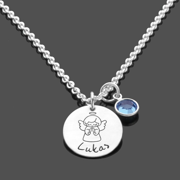 Taufkette-Namenskette-925-Silberkette-Kinderkette-Gravur