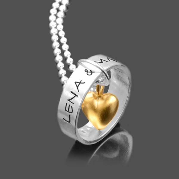 Halskette Valentinstag mit Gravur und Herz