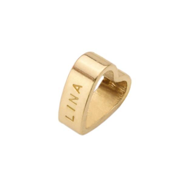 MEIN HERZ GOLD 925 Silberherz Charm mit Namensgravur Anhänger