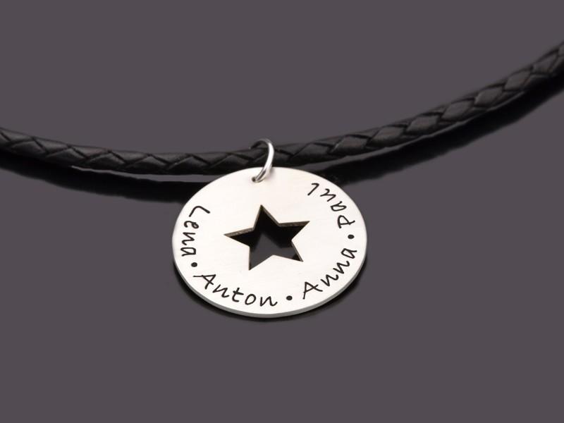Männerkette MY STARS MEN 925 Silber Herrenkette mit Gravur
