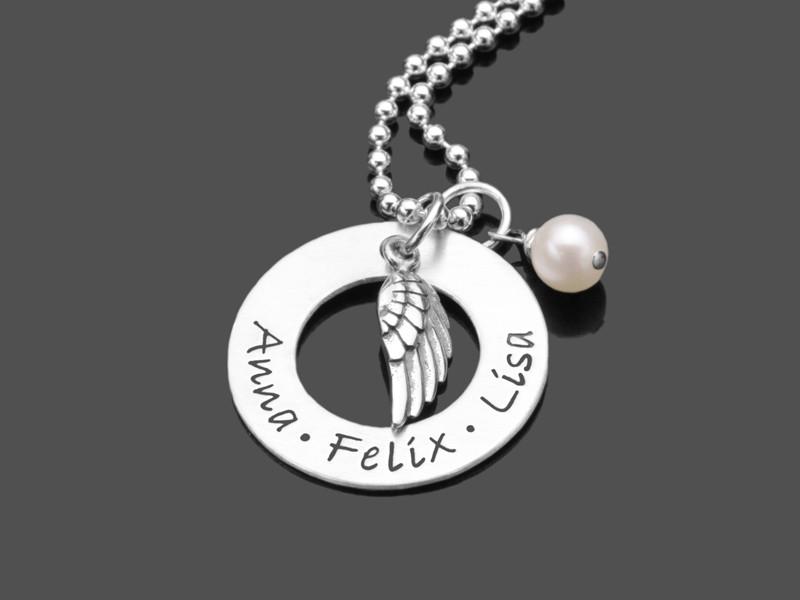 MY ANGEL 2.0 Silberkette mit Namensgravur 925 Silberschmuck