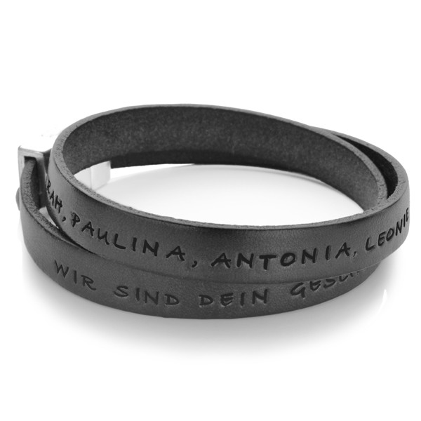 Maenner-Armband-Gravur-Black-Lederarmband-Herrenarmband