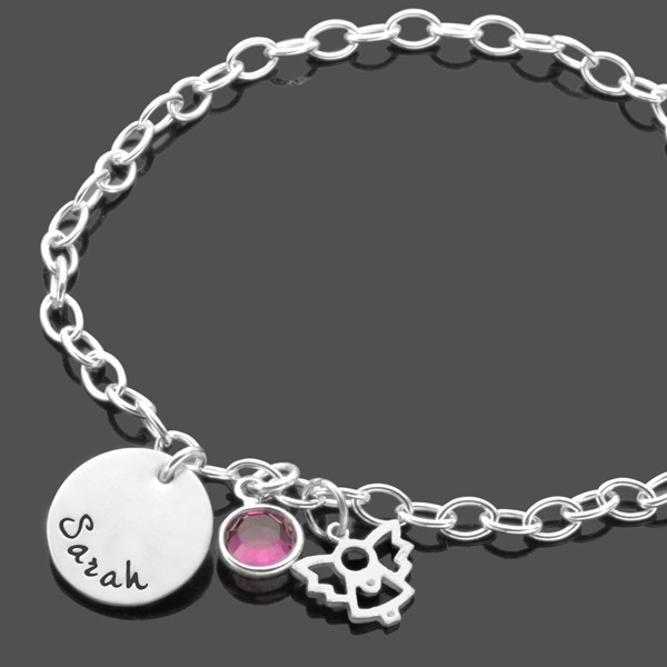 Armband--Taufe-925-Silber-Namensarmband-Taufschmuck-Gravur