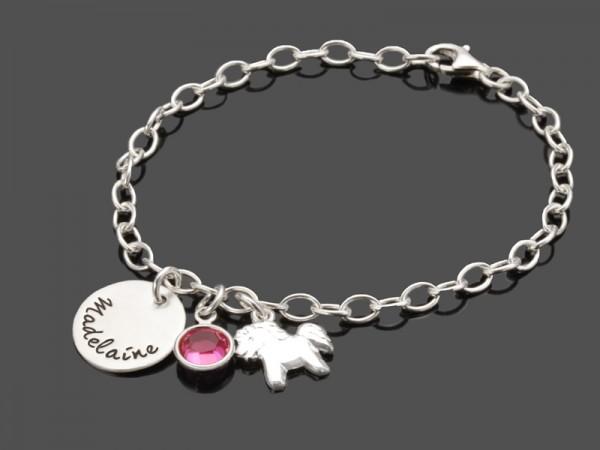 Silberarmband PFERDCHEN 925 Kinderarmband Gravur Pony