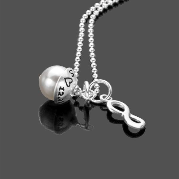 Kette mit Gravur UNENDLICH Namenskette Silber