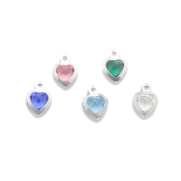 Kette für Mädchen MEIN EINHORN 925 Silber mit Gravur und Herzkristall