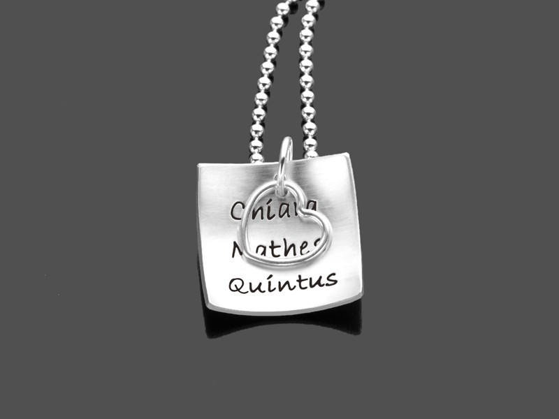 Namenskette HIP TO BE SQUARE 925 Silber Kette Gravurschmuck online