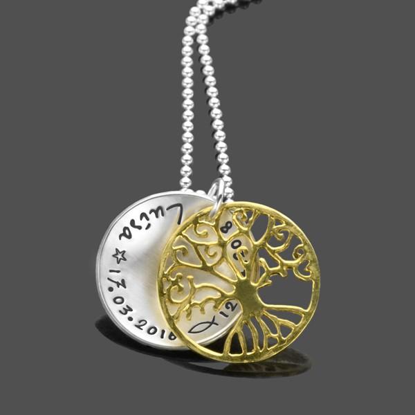 Taufkette-Lebensbaum-Gold-Taufschmuck-mit-Gravur