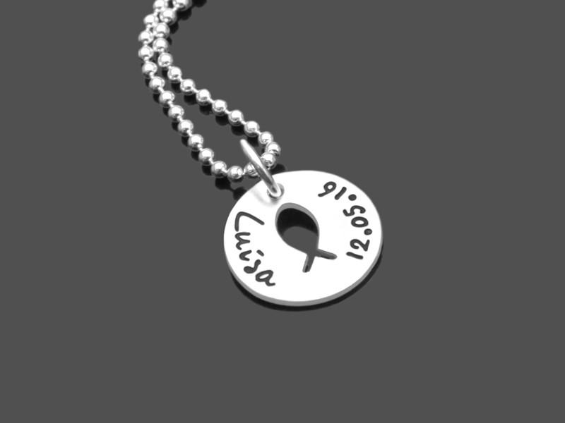 Taufkette KUMBAYA 925 Silber Taufgeschenk