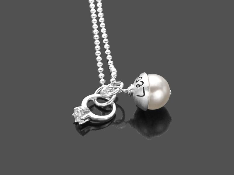 Partnerkette PROMISE 925 Silber Kette Gravur Verlobung Heiratsantrag