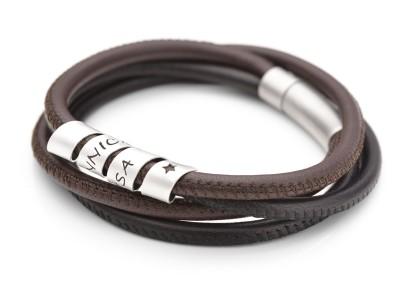günstig 0d1ff 7fab2 Herren Armband mit Gravur - Männerarmband mit Namen ...