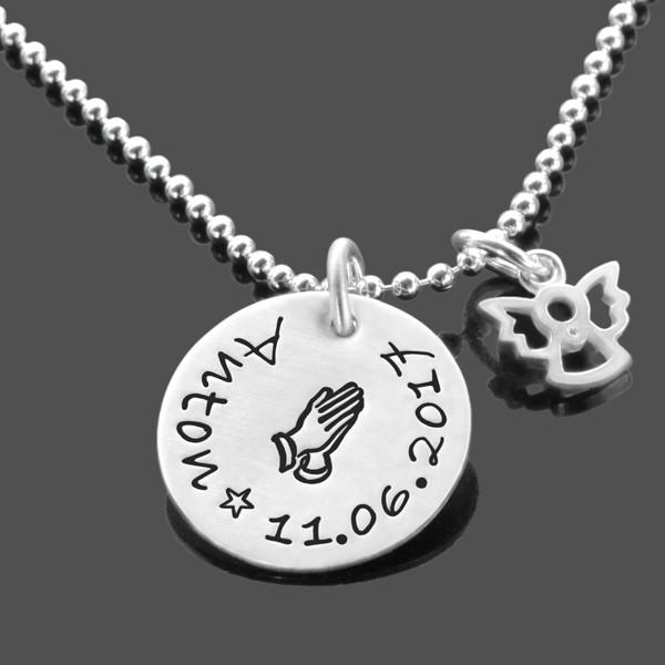 Taufkette-Junge-925-Silberkette-Taufgeschenk-Engel