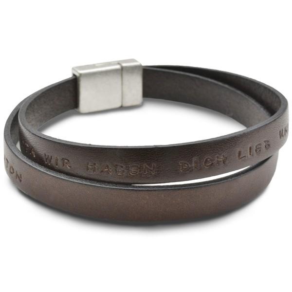 IN GEDANKEN BEI DIR Lederarmband Opa Männer Armband Gravur Herrenarmband für Opa