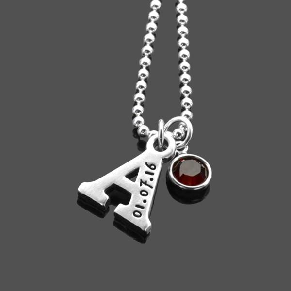 Kette-mit-Buchstaben-Namenskette-Silber