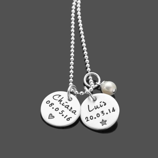 Namenskette UNSERE HELDEN 925 Silber mit Gravur
