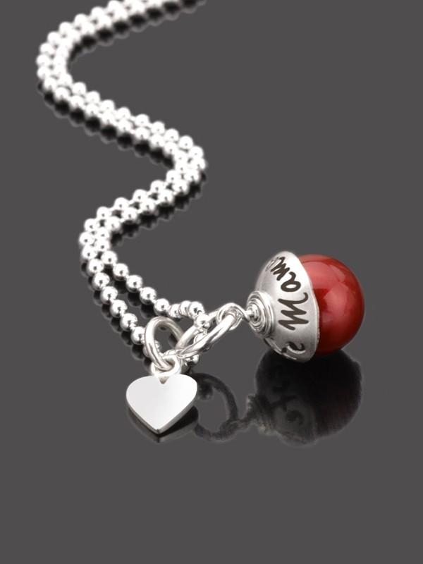 BESTE MAMA 925 Silberkette zum Muttertag mit Gravur