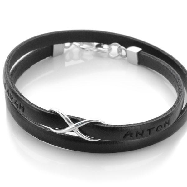 beste website akzeptabler Preis 100% Zufriedenheit Namensarmband Infinity FOREVER YOU Unendlichkeit Armband mit Namen  Lederarmband mit Gravur